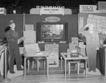Mayflower Transfer Company booth at Garrett Coliseum during the 1955 South Alabama Fair in...