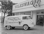 Van of the Schad Flower Shop of Dothan parked in front of Southern Motor Imports at 501 Montgomery...