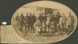 French and American Aviators in France Before One of the New 'Grass Cutters,' a Plane with Wings...