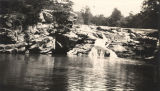 """High Falls Creek, 3 miles north of Flat Rock, used for fishing and swimming"" in Jackson..."