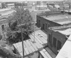 Aerial view of buildings behind the First National Bank of Montgomery at Commerce Street and Court...
