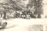 """Fox hunters going to the barbecue at the Alexander home"" in Barbour County, Alabama."