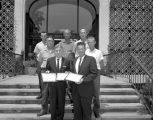 Men from the Alabama Water and Pollution Control Association on the steps of the Montgomery Museum...