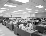 Office area at the Western Electric material management center on the Selma Highway in Montgomery,...