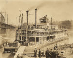 """A pleasure steamer from Cincinnati at Muscle Shoals Dock"" in Lauderdale County, Alabama."