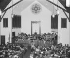 Interior of Whitfield Memorial United Methodist Church at 2673 Fisk Road in Montgomery, Alabama,...