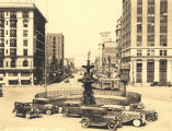 Court Square looking north on Commerce Street in Montgomery, Alabama.