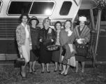 Women for Constitutional Government members ready to board a bus heading for Jackson, Mississippi,...
