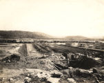 """Guntersville Dam, under construction by the Tennessee Valley Authority in the Tennessee..."