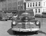 Red Taxi at the Pan-American station on the corner of Bibb and Coosa Streets in downtown...