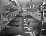 Interior of a bus in Montgomery, Alabama.