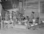 Employees filling sacks at the F. S. Royster Guano Company in Montgomery, Alabama.
