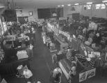 Vendor booths at the Alabama State Restaurant Show at the Fort Dixie Graves Armory in Montgomery,...