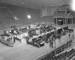 "Booths at the ""Pestorama"" at Garrett Coliseum in Montgomery, Alabama."