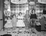 Child models at a convention hosted by the Johnson's Beauty and Barber Supply Company, held at the...
