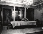 Dining room in the Governor's Mansion