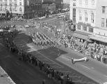 Athens High School marching band performing in Governor John Patterson's inaugural parade on...