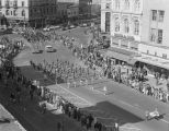 Enterprise High School marching band performing in Governor John Patterson's inaugural parade on...