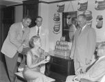 Maxwell House exhibit at a wholesale grocers' convention at the Whitley Hotel in Montgomery,...