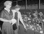 Flower competition exhibit at the 1954 South Alabama Fair in Montgomery, Alabama.