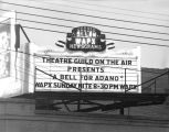 WAPX Newsgrams advertisement over the Crystal Cae at 131 Montgomery Street in downtown Montgomery,...