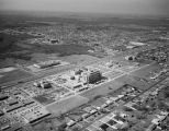 Aerial view of the Alabama Farm Bureau Federation building and Baptist Hospital on East South...