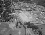 Aerial view of the construction of the Capitol Parkway Shopping Center on Upper Wetumpka Road in...