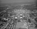 Aerial view of downtown Montgomery, Alabama, looking west toward the Alabama River.