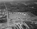 Aerial view of a shopping center under construction in Prattville, Alabama.