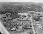 Aerial view of a school in Autauga County, Alabama, during the annual tour of the Autauga...
