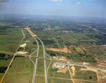 Aerial view of the construction of Interstate 85 at Eastern Boulevard in Montgomery, Alabama.