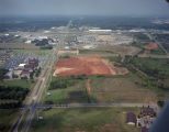 Aerial view of the Eastdale Mall and a lot cleared for construction on Atlanta Highway in...