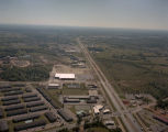 Aerial view of Eastern Boulevard at the intersection with Woodmere Drive in Montgomery, Alabama.