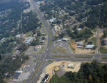 Aerial view of the intersection of Memorial Drive and Main Street in Prattville, Alabama.