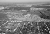 Aerial view of Garrett Coliseum during the 1956 South Alabama Fair in Montgomery, Alabama.