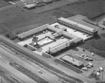 Aerial view of the Fleur De Lis Motor Lodge at 520 East South Boulevard in Montgomery, Alabama.