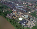 Aerial view of the Hartley Boiler Works at 704 Lafayette Street in Montgomery, Alabama.