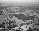 Aerial view of Greenwood Cemetery in Montgomery, Alabama.