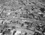 Aerial view of Carter Hill Road, Pine Street, and Belcher Street in Montgomery, Alabama.
