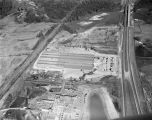 Aerial view of the Hooper Stockyard at 4700 Mobile Road in Montgomery, Alabama.
