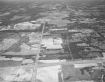 Aerial view of Atlanta Highway in Montgomery, Alabama, looking east at the intersection with...
