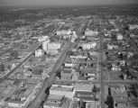 Aerial view of the Dexter Avenue and the Capitol complex in downtown Montgomery, Alabama.