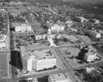 Aerial view of the Capitol complex in downtown Montgomery, Alabama.