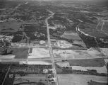 Aerial view of Atlanta Highway in Montgomery, Alabama, looking west at the intersection with...