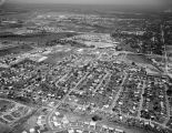 Aerial view of the homes and businesses between West Fairview Avenue and and West Edgemont Avenue...