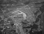 Aerial view of Maxwell Air Force Base in Montgomery, Alabama.