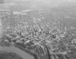 Aerial view of downtown Montgomery, Alabama.
