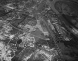 Aerial view of industrial sites in north Montgomery, Alabama.