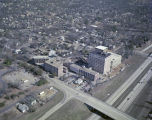 Aerial view of the Jackson Hospital complex in Montgomery, Alabama.