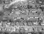 Aerial view of the Fair Manor apartments at Duncan Drive and Goode Street in Montgomery, Alabama.